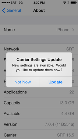 View and edit your APN settings