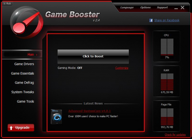 game booster 3 clubic