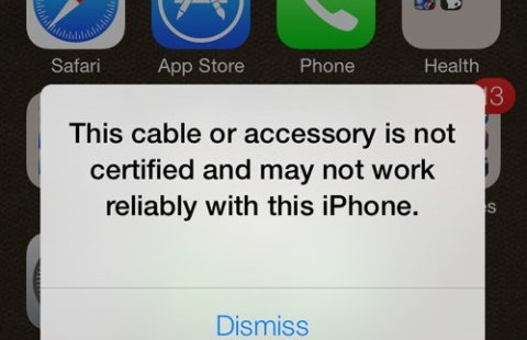 iOS-7-Unauthorized-Lightning-cable. iPhone charger not working ...  sc 1 st  RecomHub & Apple iPhone or iPad Charger Not Working Fix on iOS 8 - RecomHub azcodes.com