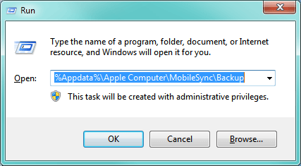 how to find iphone backup file on windows 7